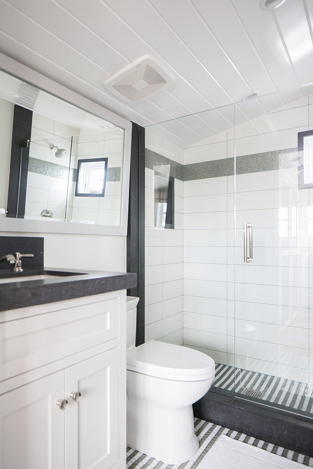 Black and white bathroom design | Brooke Wagner Design | BATHROOMS ...