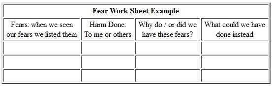 aa 4th step template - printable aa step 4 worksheets step 4 guide aa