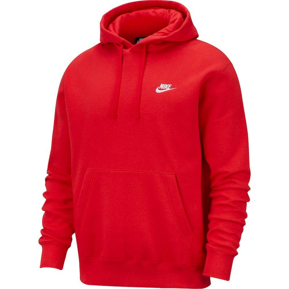 Predownload: Men S Nike Sportswear Club Fleece Pullover Hoodie In 2020 Red Nike Hoodie Mens Sportswear Pullover Hoodie [ 1000 x 1000 Pixel ]
