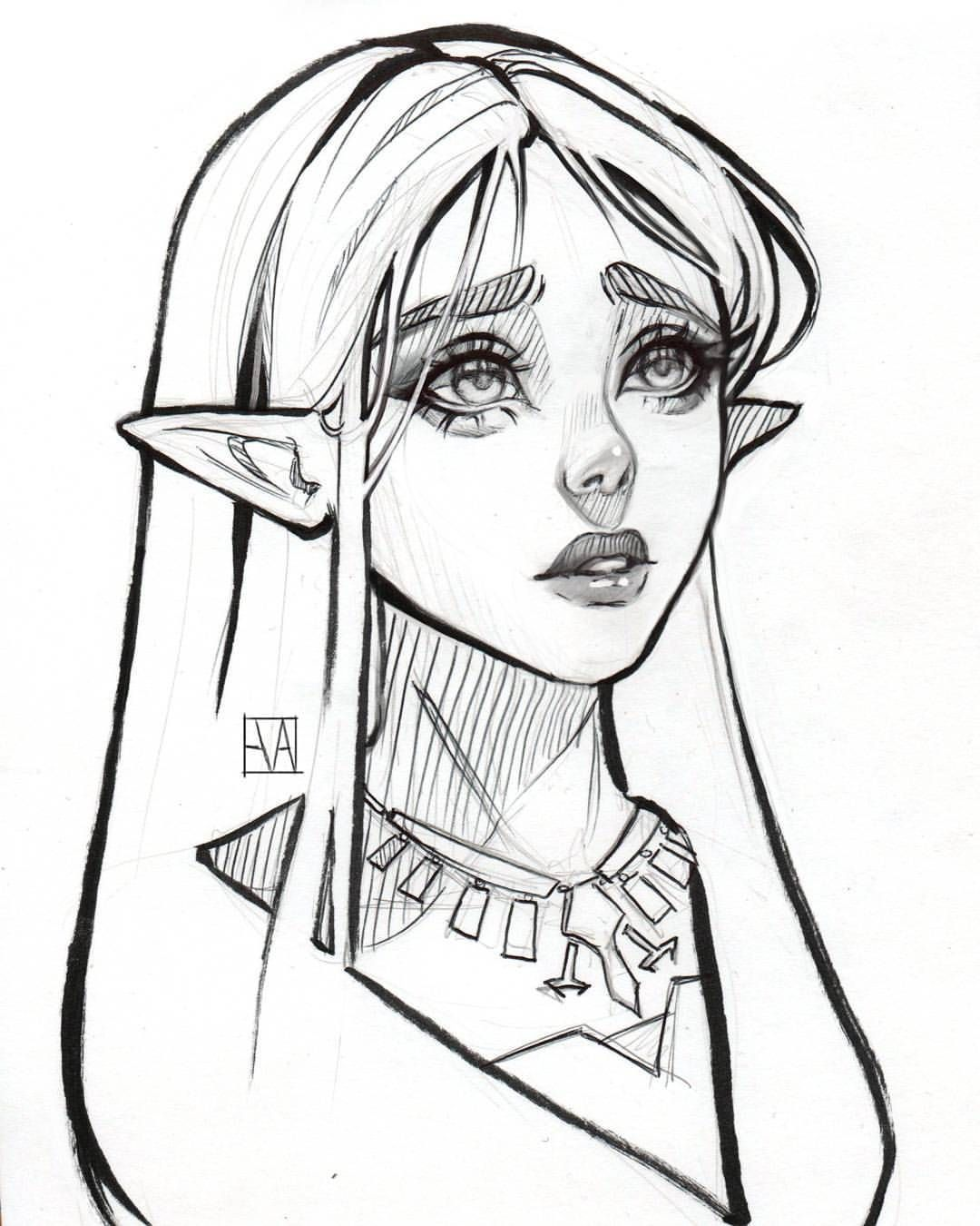 Learn To Draw Eyes Sketches, Elf drawings, Character art
