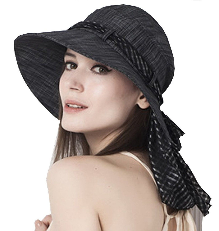 97fa1f2bf Supergirl Women's Cotton Sun Hats Spring Summer Topee UPF 50+ Floppy ...