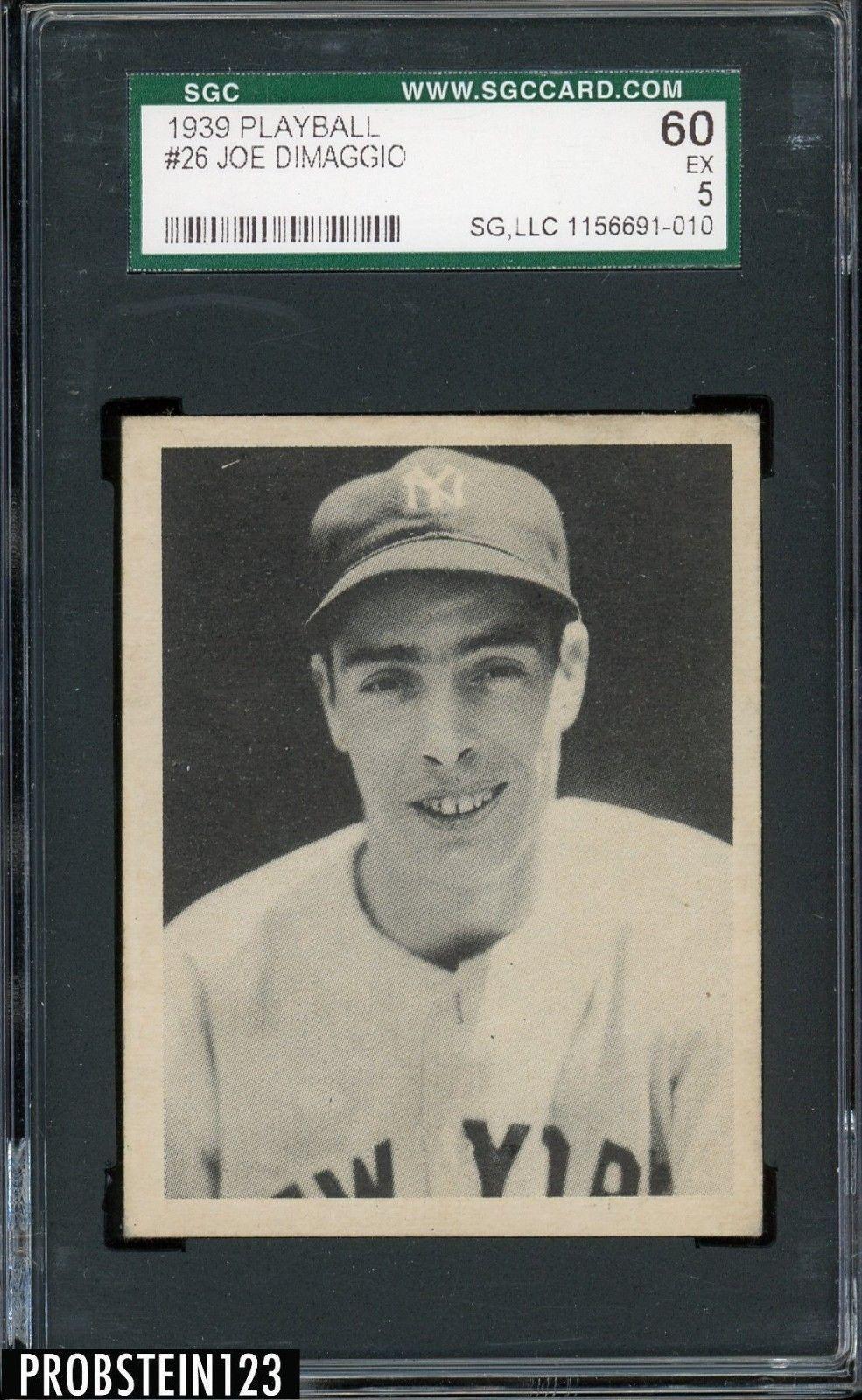 1939 Play Ball 26 Joe Dimaggio New York Yankees Hof Sgc 60 Ex 5
