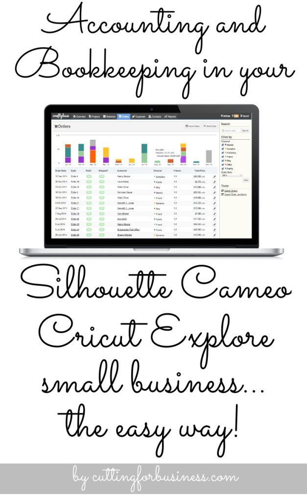 Accounting and Bookkeeping in your Silhouette Cameo