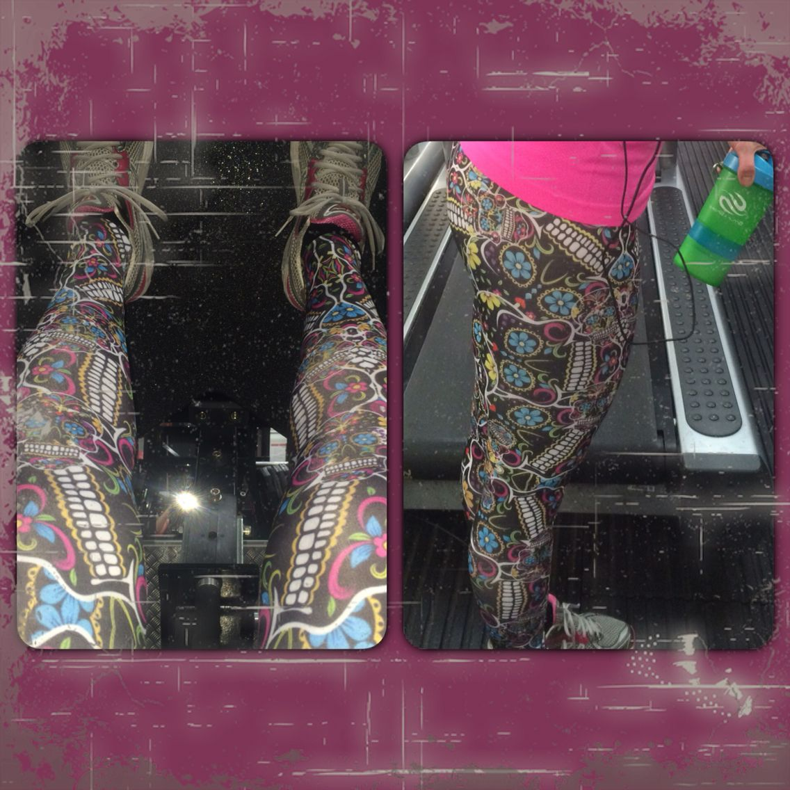 Brazilian fitness leggings from Sara Das Silva's website. It's written in lore that wearing a colourful outfit makes you lift heavier!!!