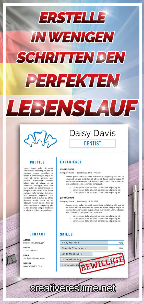 Registered Dental Assistant Resume Template For Word Dentist Cv Dental Hygienist Cv Dental Lab Technician Orthodontic Cv Medical Resume Lebenslauf Zahnarzthelferin Lebenslauf Vorlagen Word