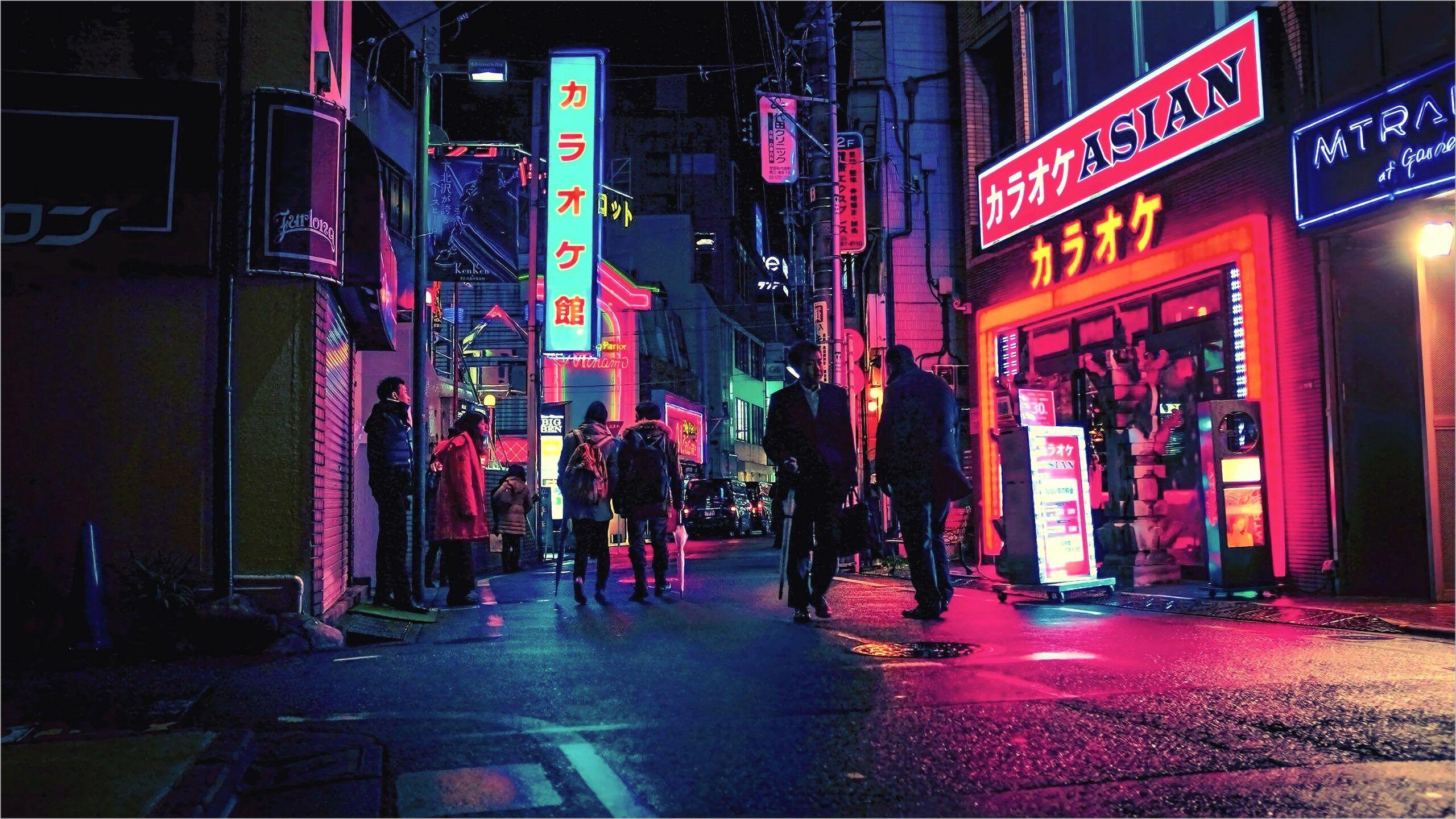 Japan Street Wallpaper Blue And Red 4k Japan Street Japanese Wallpaper Iphone Aesthetic Japan