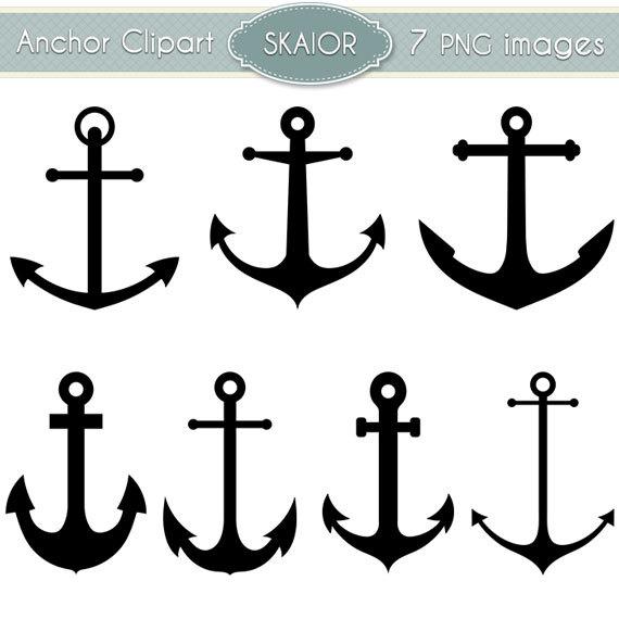 Anchor Clipart Vector Clip Art Nautical By Skaior