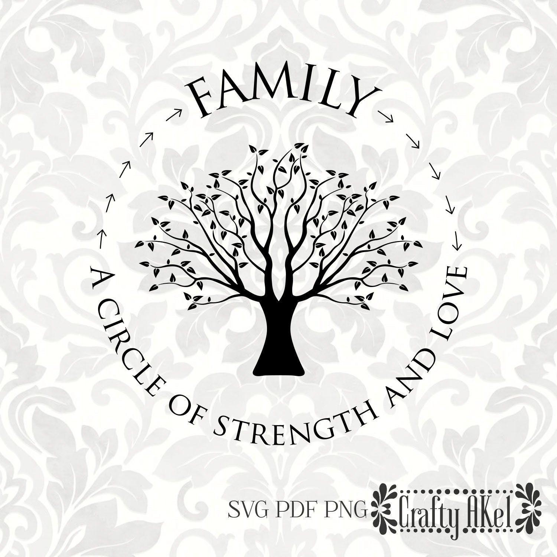 Family A Circle of Strength and Love family Tree Family   Etsy