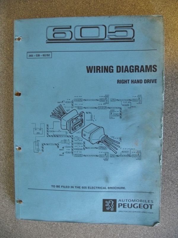 Wiring Diagram Peugeot 605 - WIRE Center •
