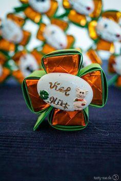 Silvester Glücksklee - Süße Küsschen als Glücksbringer - Tasty-Sue