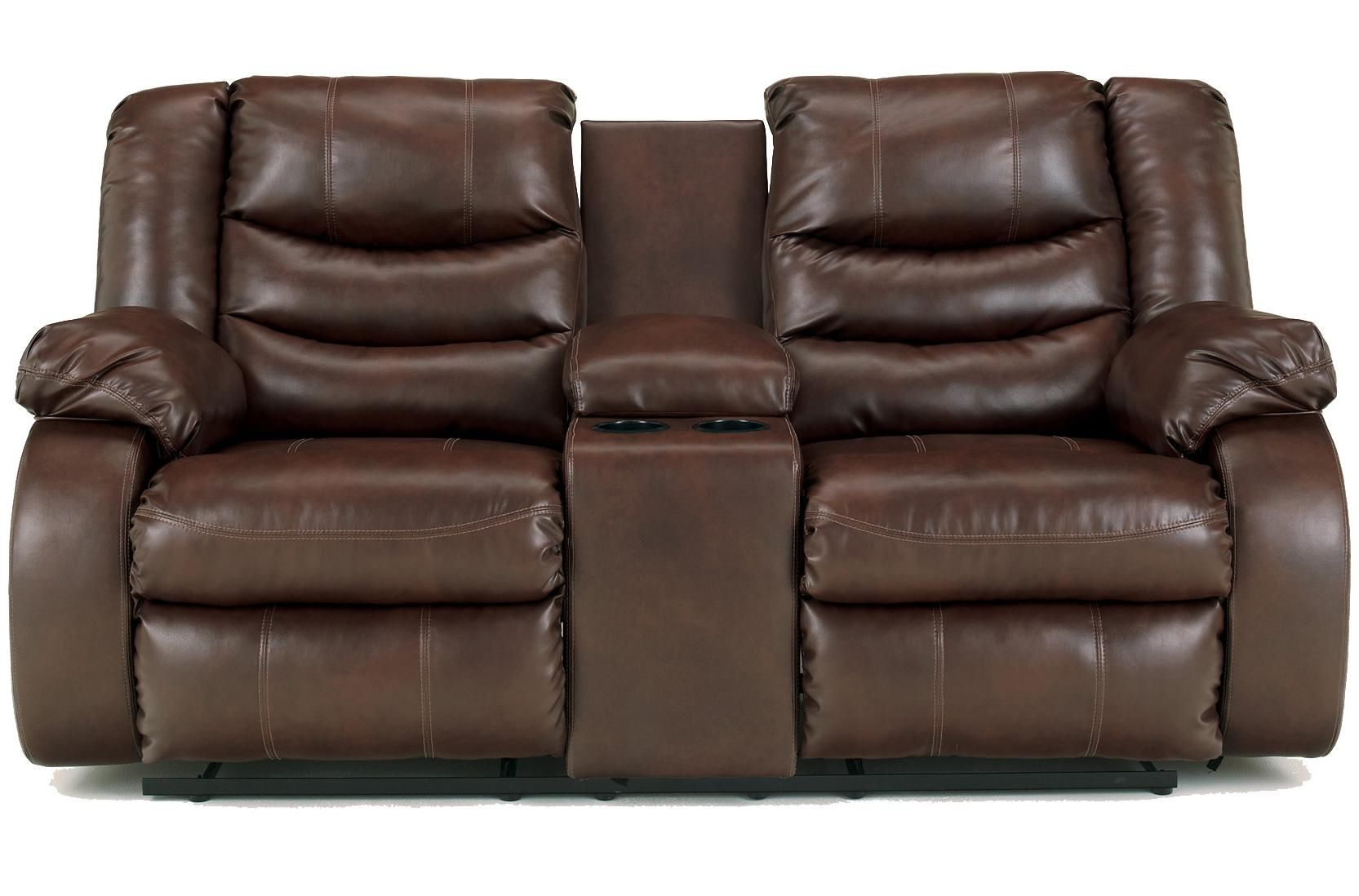 linebacker durablend espresso contemporary double reclining