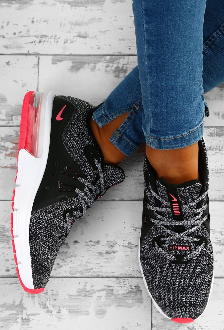223a74714f Nike Air Max Sequent 3 Monochrome Knitted Trainers | Fresh Kicks ...
