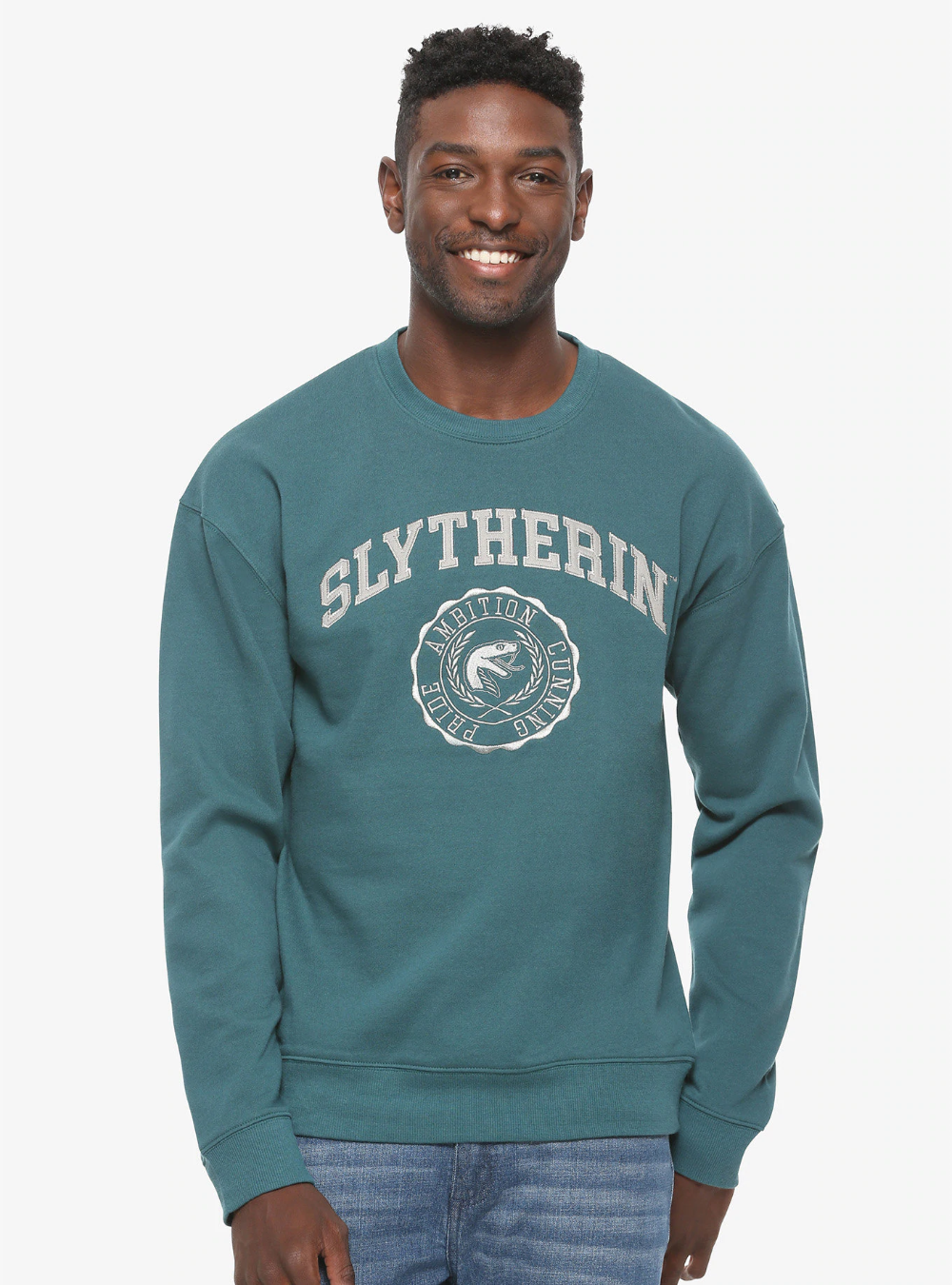 Harry Potter Slytherin Seal Crewneck Boxlunch Exclusive [ 1350 x 1000 Pixel ]