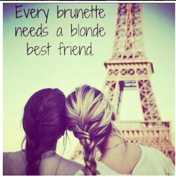every brunette needs a blonde best friend google search girlfriends pinterest spr che. Black Bedroom Furniture Sets. Home Design Ideas