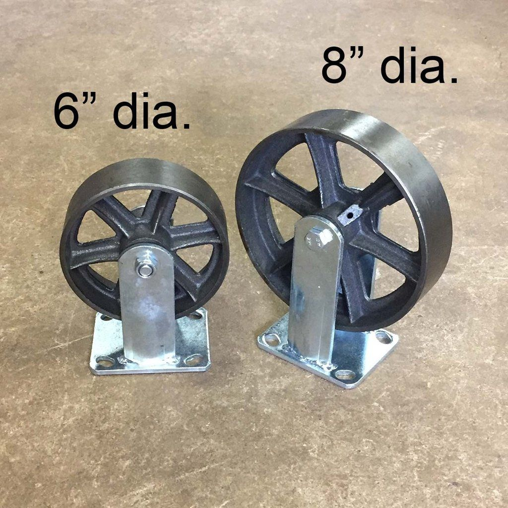 8 Rigid Casters With Steel Wheels Price Per Piece You Need 4 For