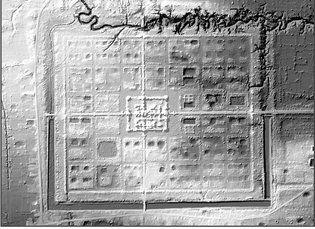 Lidar scan of settlement around Beng Mealea temple