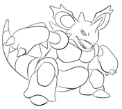 Nidoking From Generation I Pokemon Coloring Pages Free Printable Coloring Pages Printable Coloring Pages