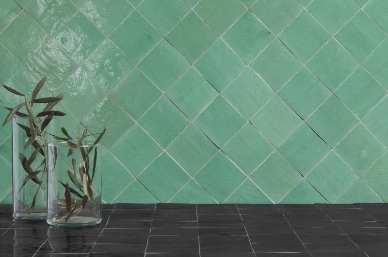 Zellige 10x10 Medina White Igloo Original Zellige Handmade Earthenware Tiles Oriental Style Moori Salle De Bains Gris Et Bois Deco Carrelage Parement Mural