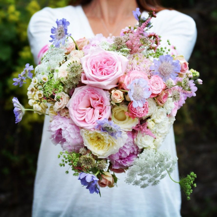 Bridal bouquet of mixed pastel flowers | WEDDING BOUQUETS ...
