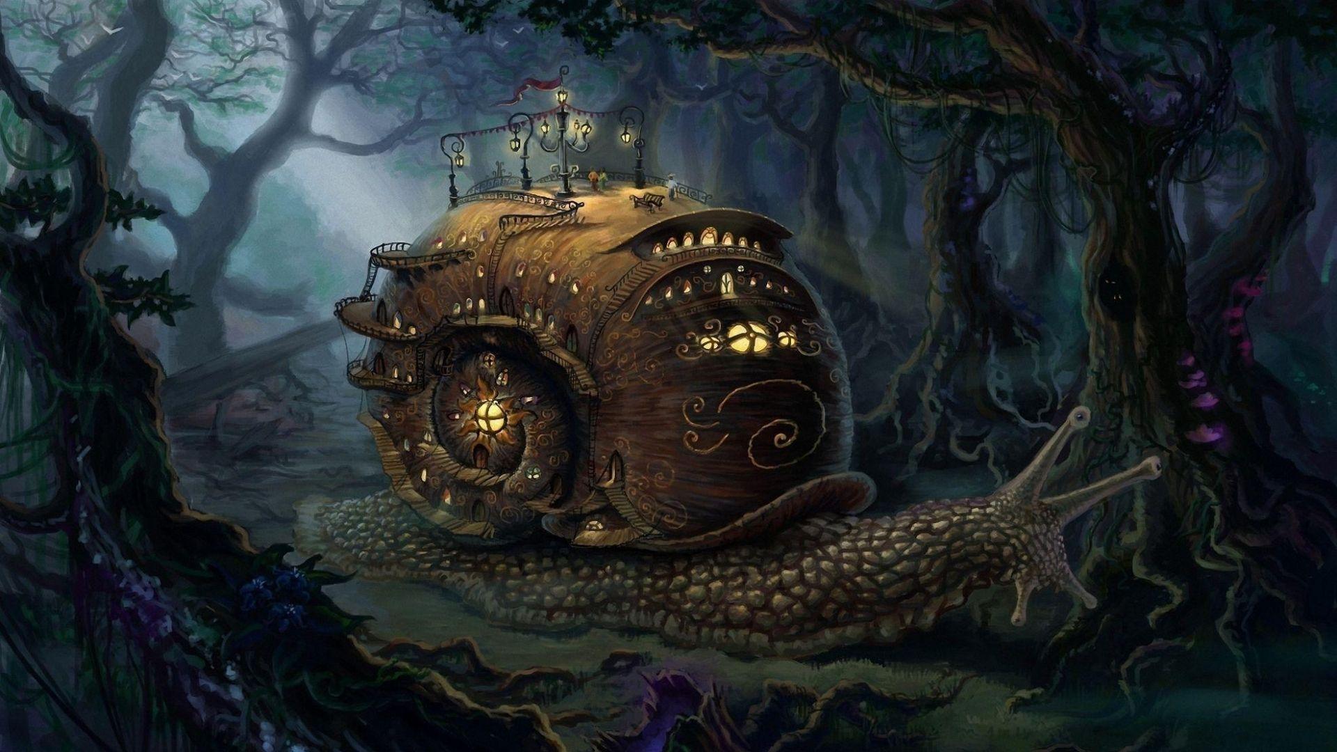 steampunk fantasy art fantasy art landscapes snail