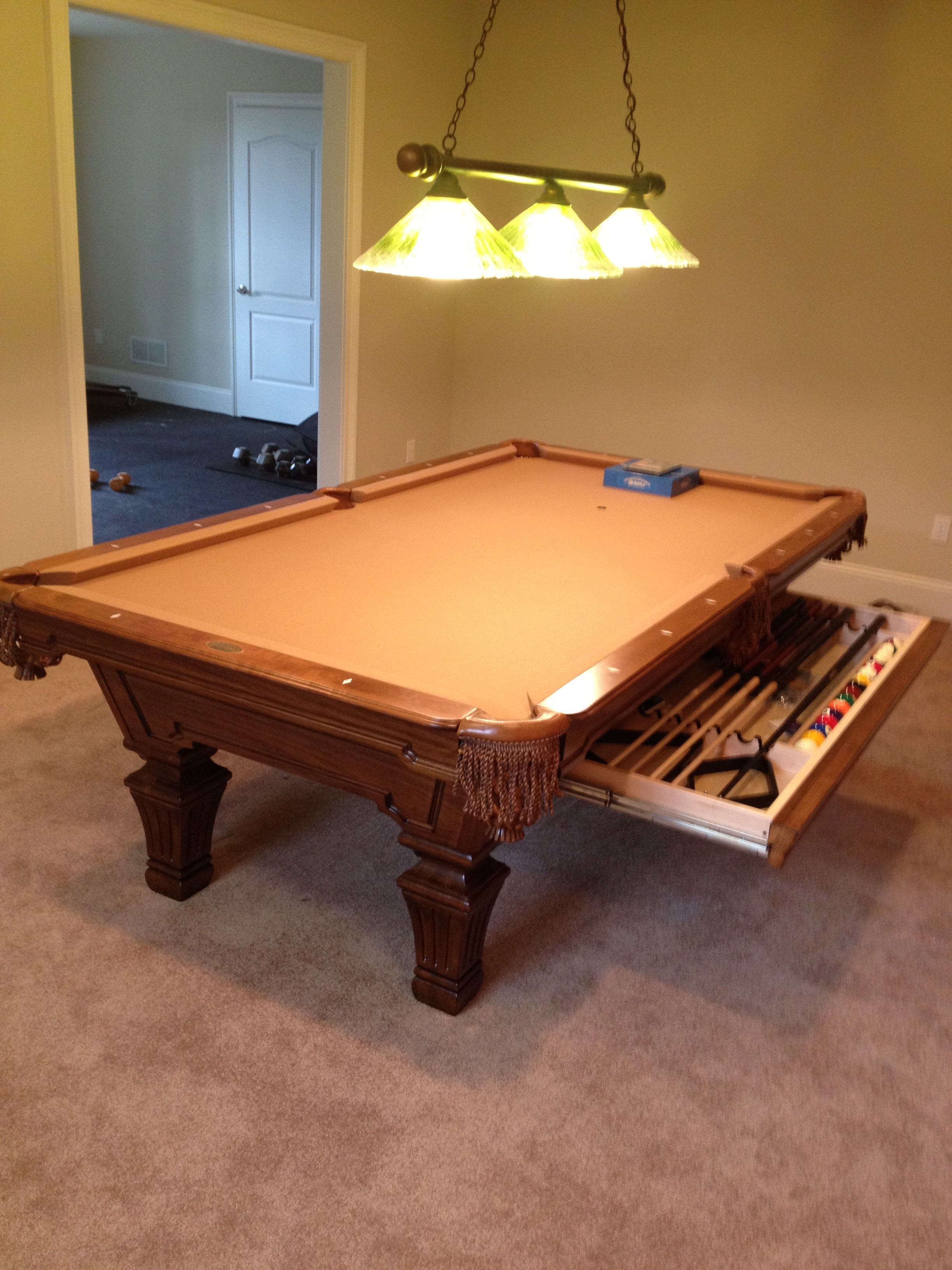 Olhausen Hampton With Cue Storage Drawer In A Heritage Mahogany - Olhausen hampton pool table