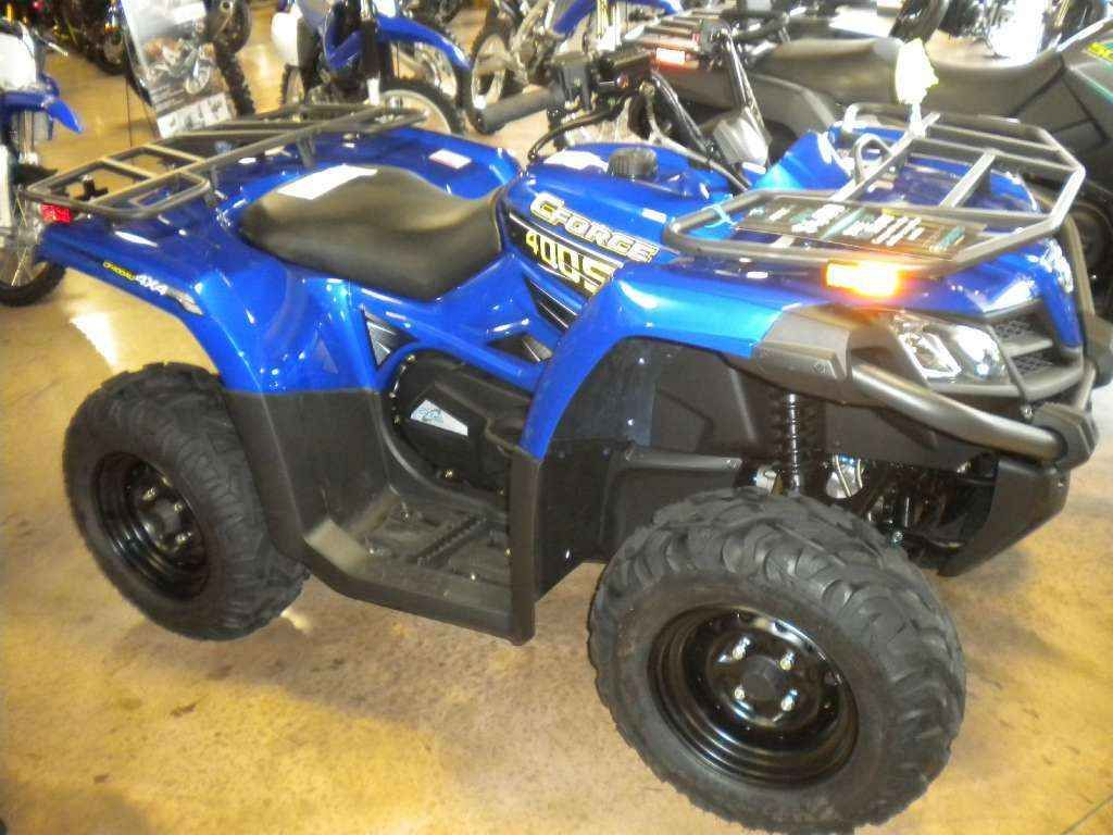 New 2016 Cfmoto CForce 400 ATVs For Sale in Pennsylvania. Metallic Blue Model Shown Operational: - Shocks: Oil damping