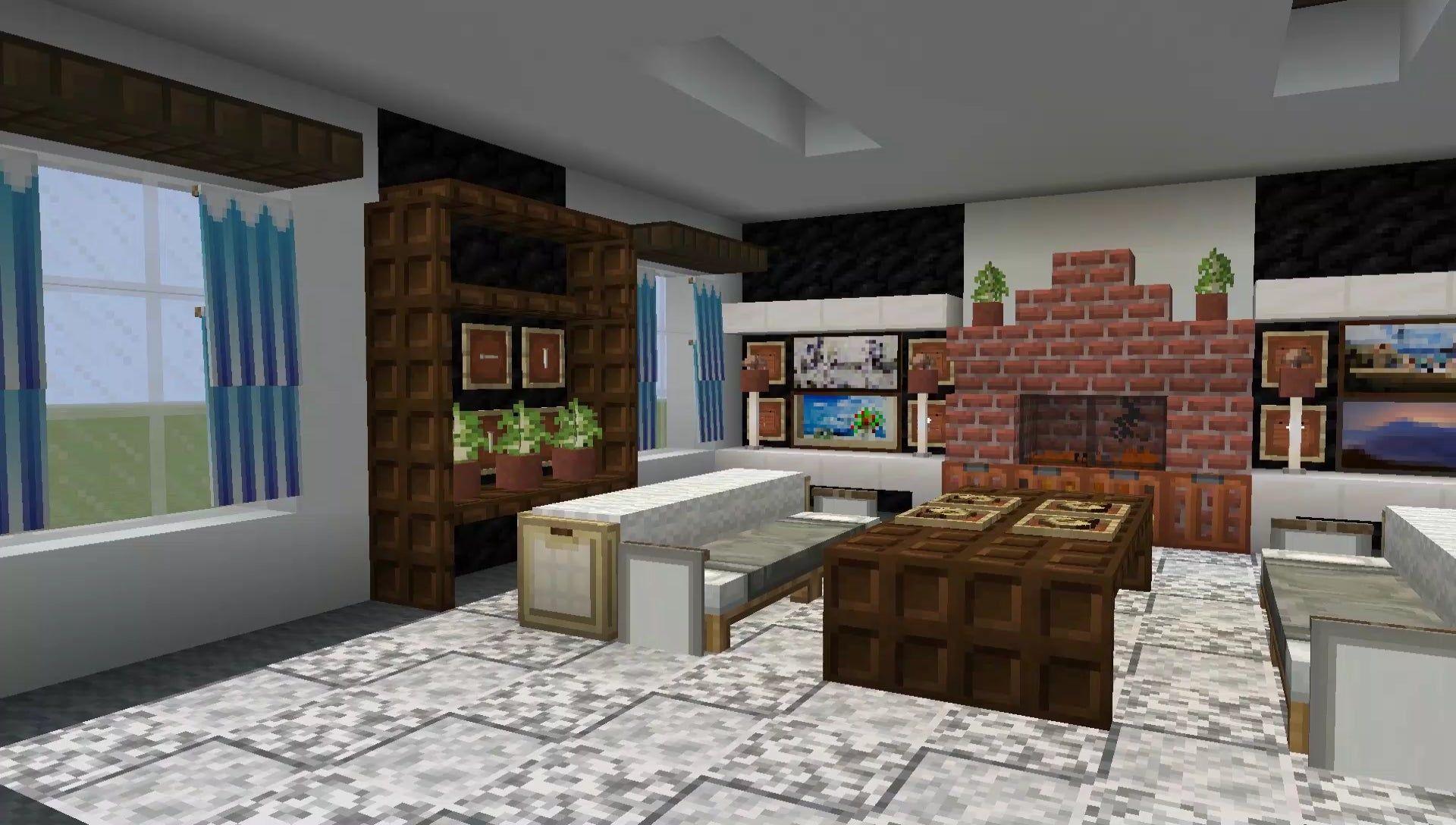 11 Living Room Ideas In Minecraft Minecraft Di
