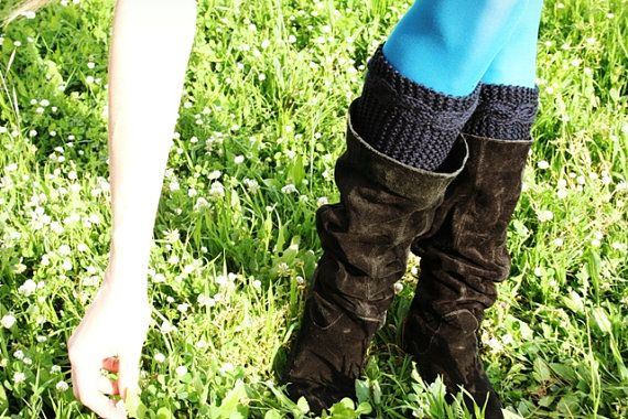 Knitted Boot Cuffs - Handmade in Italy