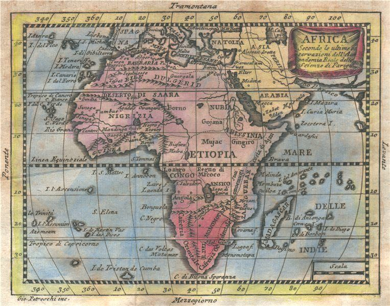 Africa   Niger river flows west  Phantom St Matthew s island     BUFFIER  1775 map  The Niger river is shown on the map with its source in a  lake approxiately in today s Congo  flowing north