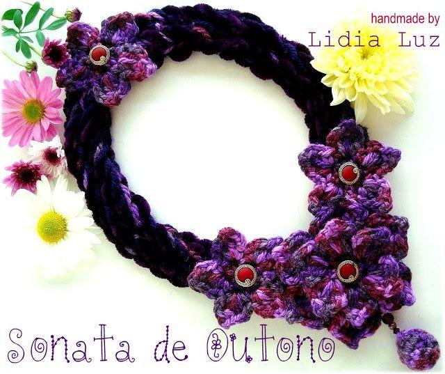 Lidia Luz: Sonata de Outono, colar de crochê