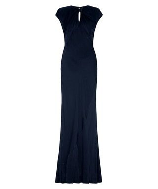 Ghost wendy navy satin maxi dress