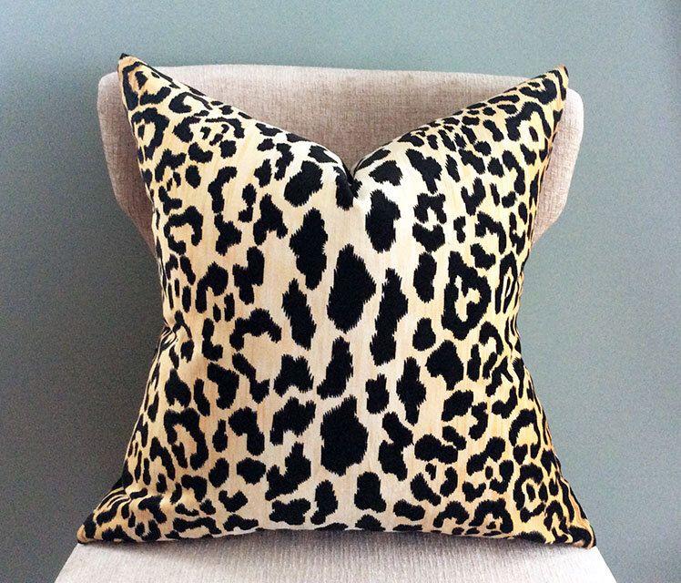 Leopard Velvet Pillow Cover animal