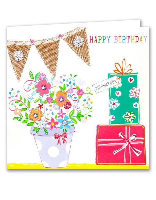 Birthday Girl Card Female Birthday Cards Pinterest Birthdays