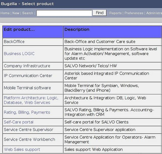 As from the screens (Bugzilla bug tracking tool), at SALVO Mobile R/IT Department we manage the following sub-projects as complementary parts of the SALVO Personal Mobile Security platform development & delivery project:    * BackOffice (Back-Office  Easy Home Surveillance. Learn more here http://www.easyhomesurveillance.com/?hop=meknowu76 to turn an ordinary webcam into your own private surveillance system.