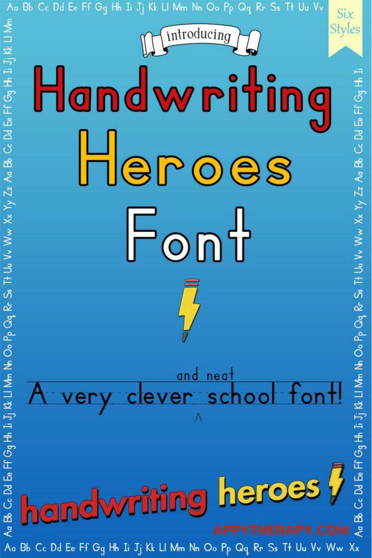 Handwriting Heroes Font | Pinterest | Handwriting, iPad app and ...