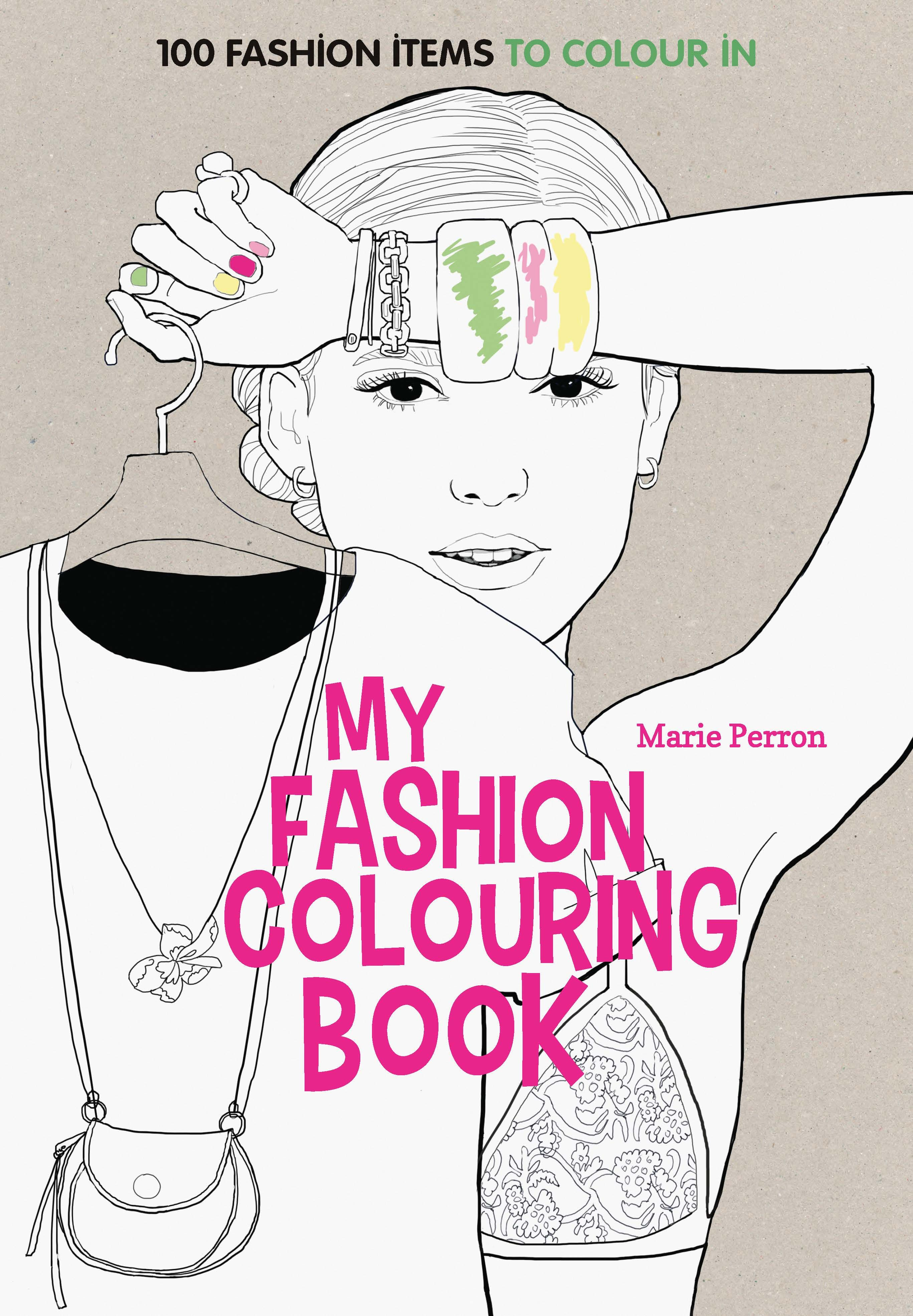 Colour book art - Art Therapy My Fashion Colouring Book 100 Fashion Items To Colour In By Marie