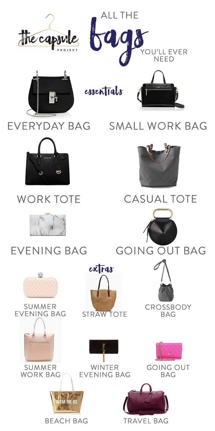 591107a286a5 A Complete Bag Wardrobe according to the Lucky Shopping Manual   nationalhandbagday  bags  capsulewardrobe