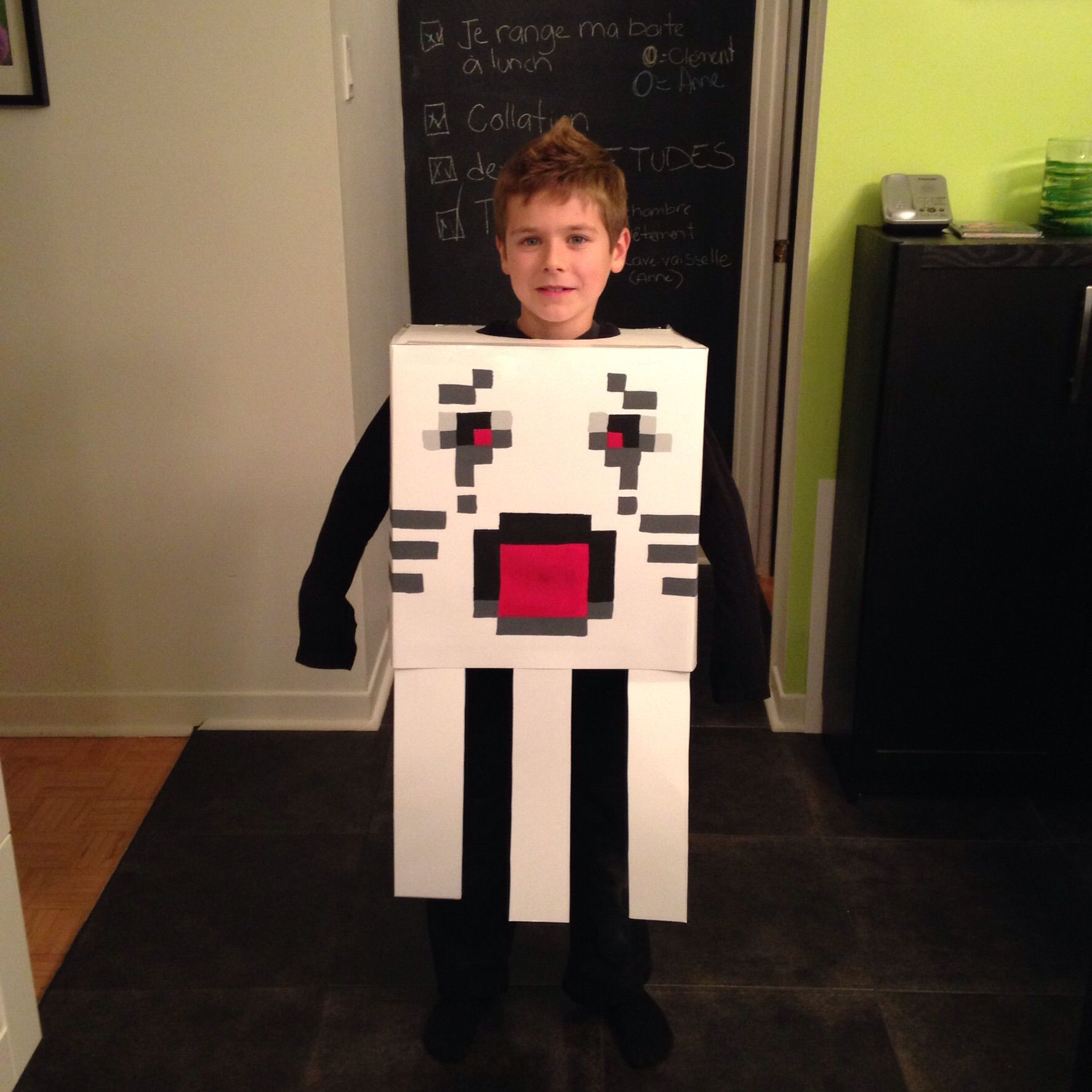 costume halloween fait maison ghast minecraft. Black Bedroom Furniture Sets. Home Design Ideas