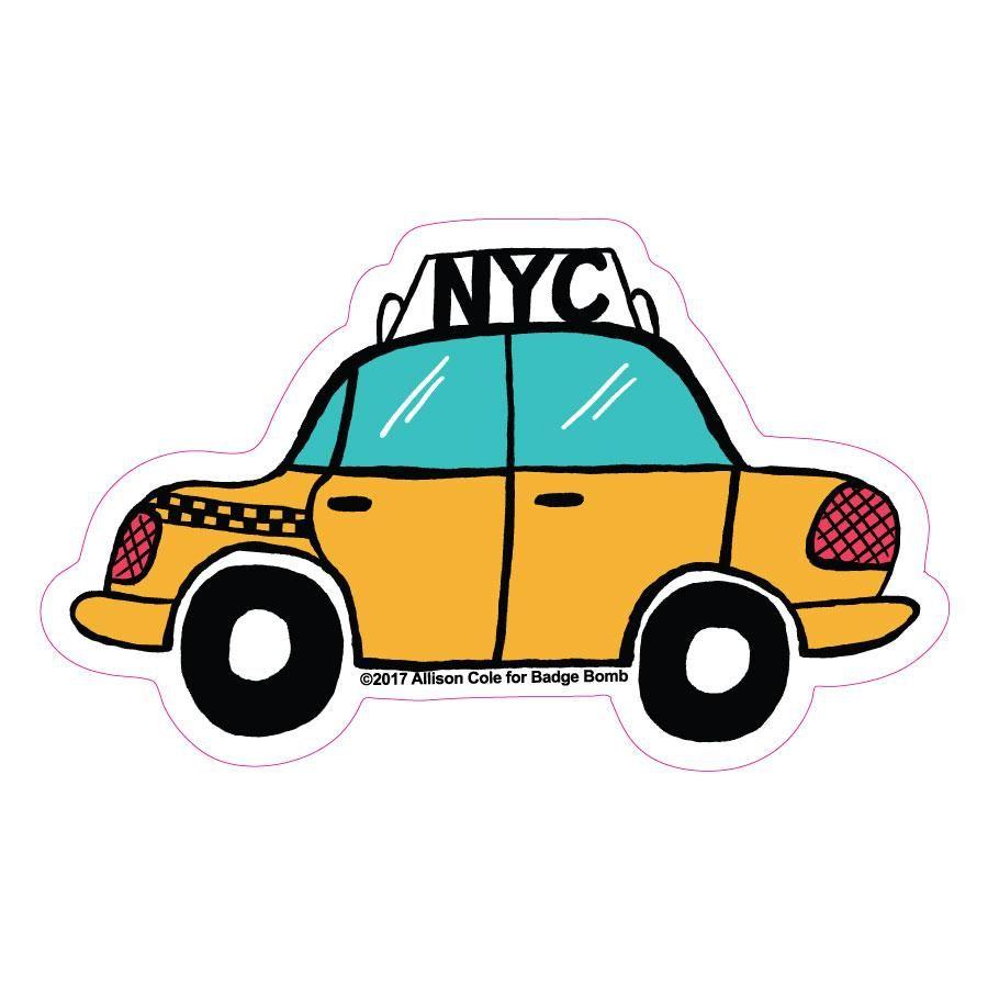 Nyc Taxi Big Sticker Pegatinas Bonitas Taxi Dibujo Pegatinas Wallpaper [ 900 x 900 Pixel ]