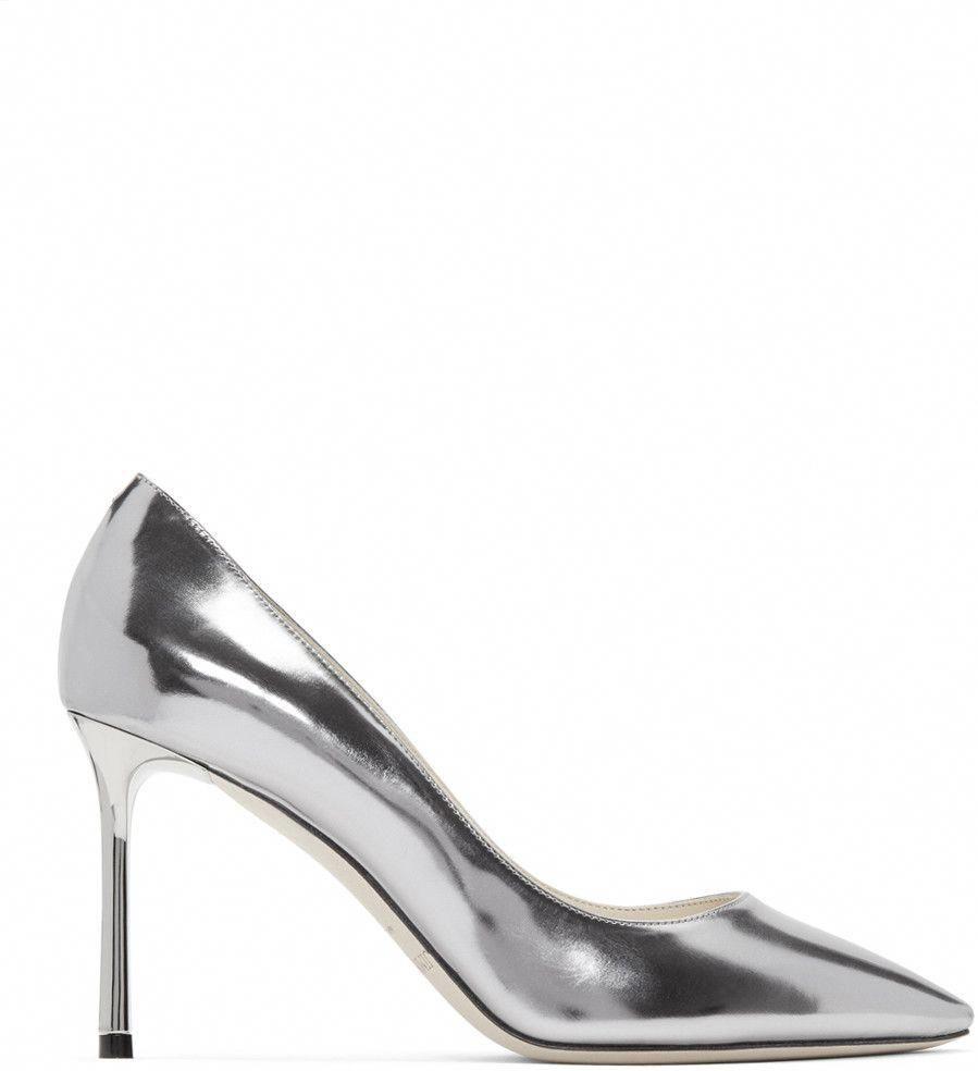 3dae4516c116 JIMMY CHOO Silver Mirrored Romy Heels.  jimmychoo  shoes  pumps ...