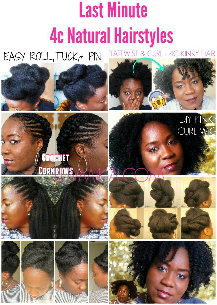 Easy last minute c natural hair styles for valentineus day and any