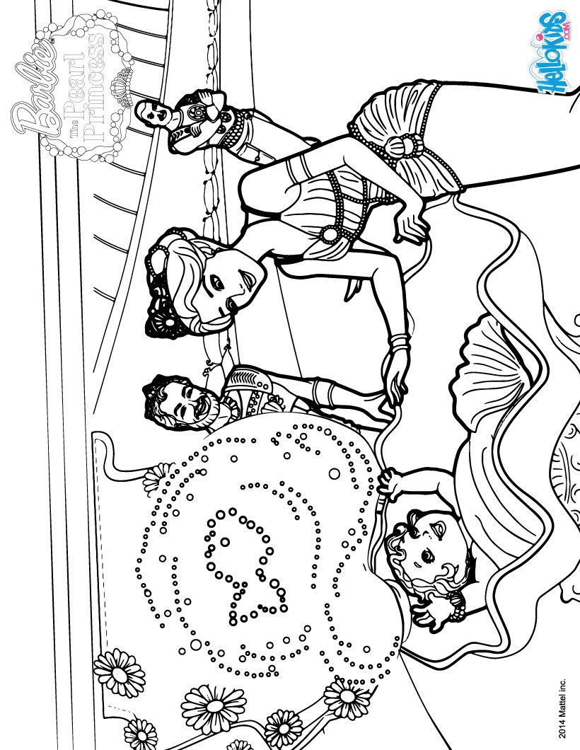 Barbie THE PEARL PRINCESS coloring pages - Mermaid Royal Family ...