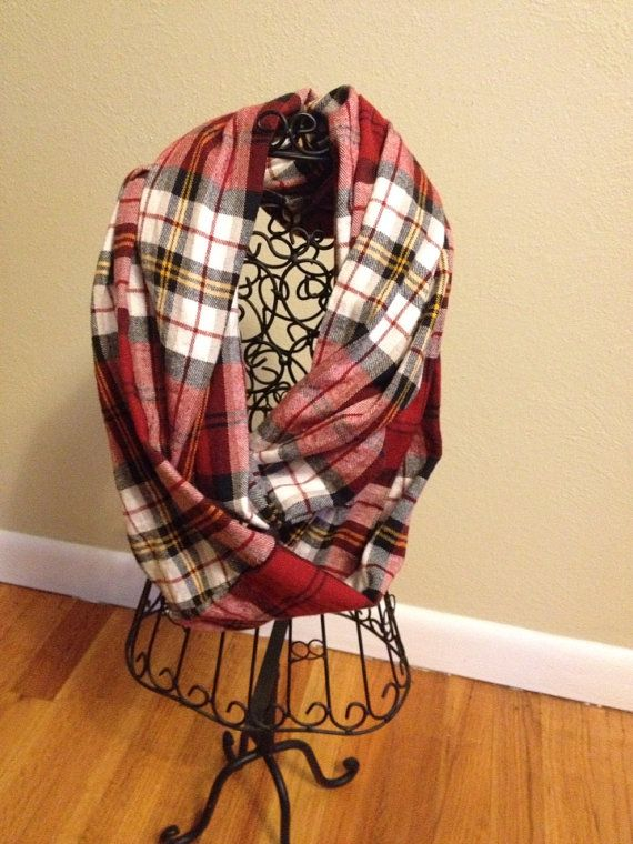 Plaid flannel infinity scarves by WrappedUpWithBeth on Etsy, $15.00