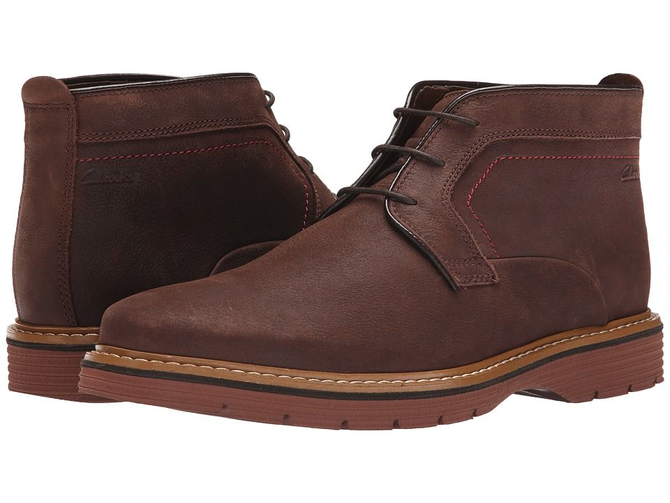 Clarks Newkirk Top Men's Boots Dark Brown Nubuck | Clarks