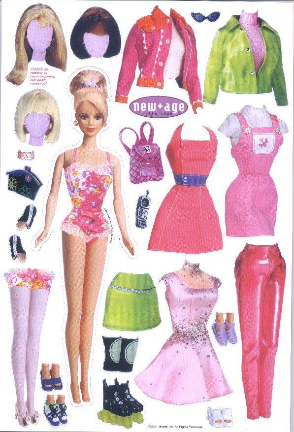 Barbie Flavia álbumes Web De Picasa Ropa De Papel
