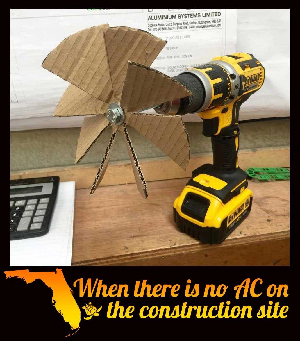 drill fan | meme | Construction humor, Electrician humor ...