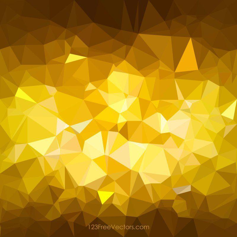 Dark Golden Brown Abstract Polygonal Triangular Background