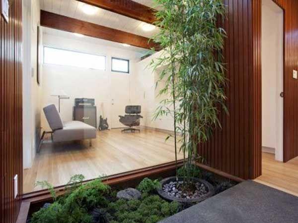 Terrasse En Bois Pour Le Jardin Zen Avec Ce Petit Coin De Verdure