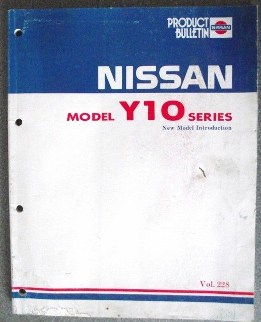 nissan y10 series new model introduction manual pb1e v228g0 jacks For a 1990 240SX Wiring-Diagram