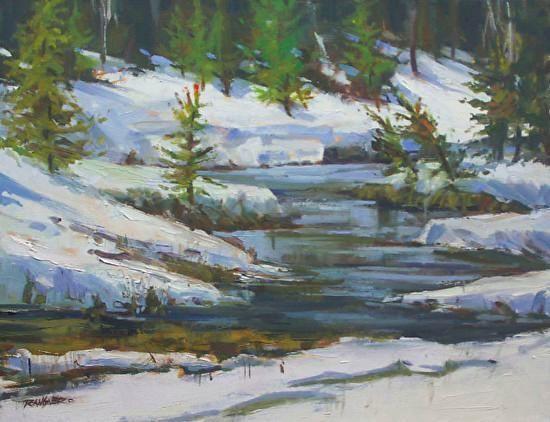 snow by Mike Rangner Oil ~ 14 x 18